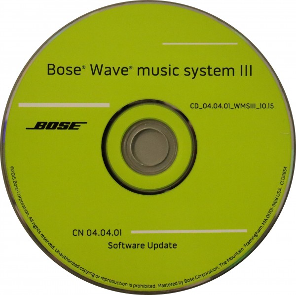 Wave Music System III Update CD